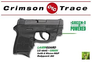 Details about CRIMSON TRACE Green Laserguard for Smith &Wesson M&P  BODYGUARD  380 - LG-454G