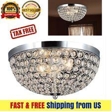 Elegant Designs Ellipse Crystal 2 Light Ceiling Flush Mount Chrome Chandeliers