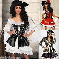 Piraten-Kostüm Damen Musketier-Kostüm Piratin Karneval Fasching Piraten-Kleid