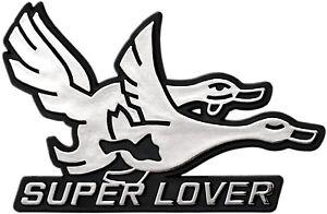 Auto Relief Schild 3D Aufkleber SUPER LOVER 9 cm original 1982 HR Art. 4764