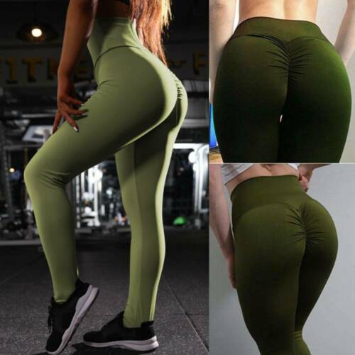 Womens Butt Lift Yoga Pants Ladies High Waist Leggings Scrunch Trousers Gym Wear