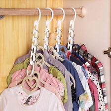 Space saver hangers 8 Pc closet organizing racks multiple clothes hanger holder