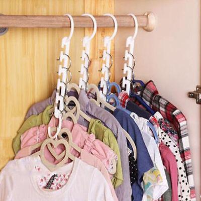 Space saver hangers 8 Pc closet organizing racks multiple clothes hanger holder