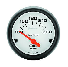 "Auto Meter Phantom Electric 100-250 Deg F Oil Temperature Gauge 2-1/16"" (52mm)"