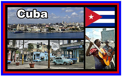 CUBA - SOUVENIR NOVELTY FRIDGE MAGNET - NEW - GIFT - *SEE OUR SPECIAL OFFER*
