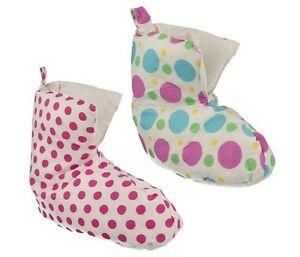 DUVET DUCKS Girls Warm Duck Down Filled Duvet Slippers