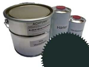 1,5 Liter Set 2K Floor Color Floor Ral 6012 Vinyl-Epoxid-Lack Lackpoint Shine