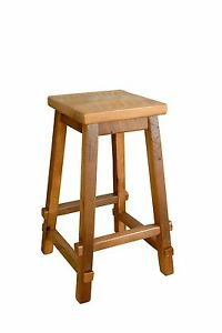 Brilliant Details About Rustic Reclaimed Barn Wood Square Seat Bar Stool Amish Made Usa Evergreenethics Interior Chair Design Evergreenethicsorg