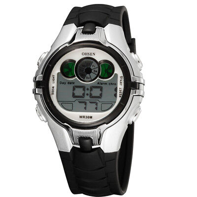 OHSEN Digital LED Electronic Boys Wristwatches Alarm Date Children Sport Watch
