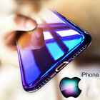 Luxury Aurora Gradient Color Transparent Ultra Thin Slim back case for iphone X
