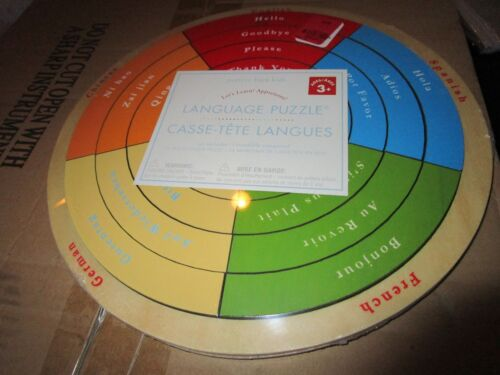 Pottery Barn Kids Learn Language Puzzle English French German Chinese Spanish