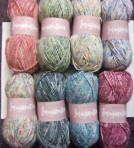 5-x-100g-Sirdar-Imagination-Flecked-Chunky-Wool-Yarn-for-Knitting-Crochet