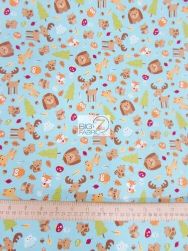 HAPPY CAMPERS BLUE BY RILEY BLAKE 100/% COTTON FABRIC FH-2633 BY YARD CLOTHING