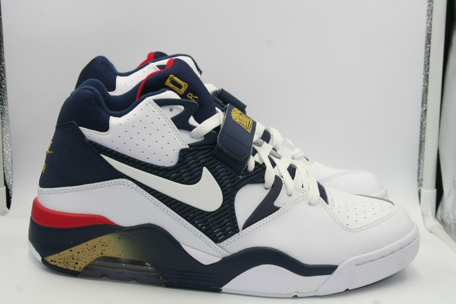 Nike Nike Nike Air Force 180 Olympic Sz 10.5 Charles Barkley Team USA Navy bluee Red gold 4cb772