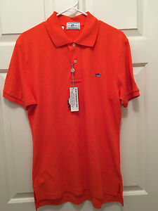 NWT University of Virginia UVA Cavaliers Southern Tide Orange Polo Shirt Small