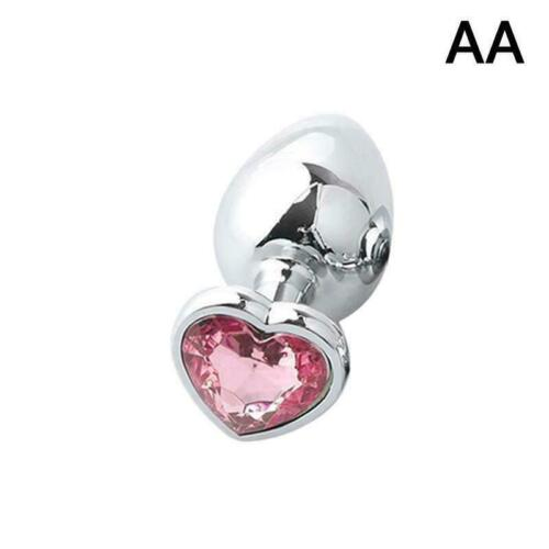 Pink Butt Toy Plug Anal Heart Jeweled Gem love gift Y7W0