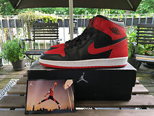 AIR JORDAN 1 BRED 2001 10.5 NEW ROYAL BLACK TOE KAWS SUPREME NIKE UNDFTD 44.5 OG