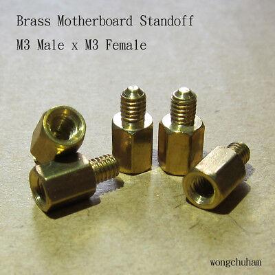 Desktop PC Brass motherboard standoff M3 male x M3 female 25 pcs
