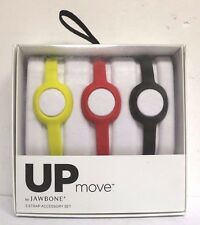 Genuine 3 Slim Strap Wrist Band for Jawbone up Move Bracelet Black Red Yellow