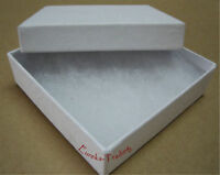 Jewelry Boxes 100 Swirl White Cotton Filled Gift 3 1/2 X 3 1/2 X 1 Bracelet