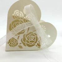 20pcs Creative White Ribbon Wedding Favours Party Gift Mini Candy Box Paper 8u32 on sale