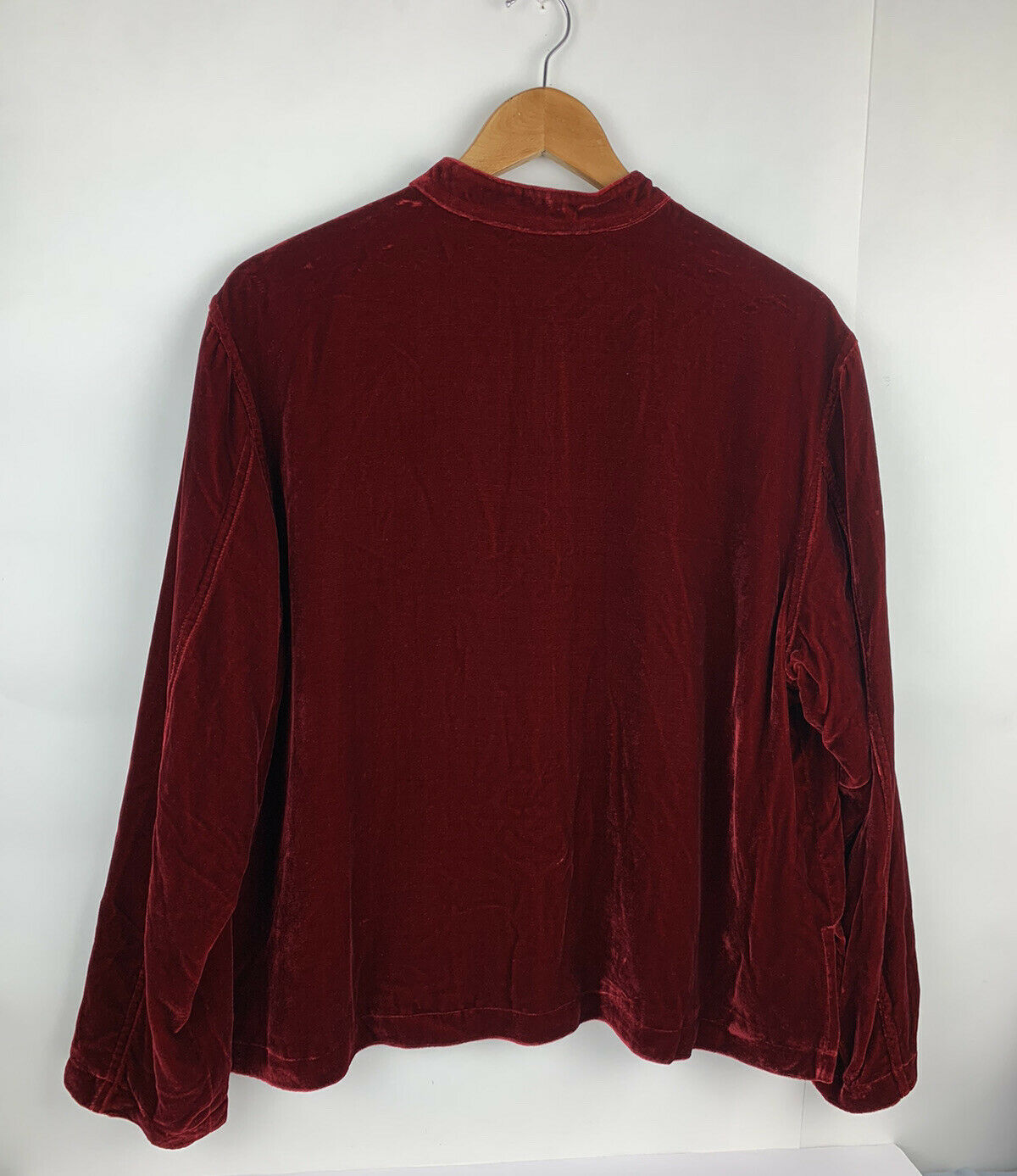 Chicos Womens Button Jacket Red Velvet Velour Ope… - image 7