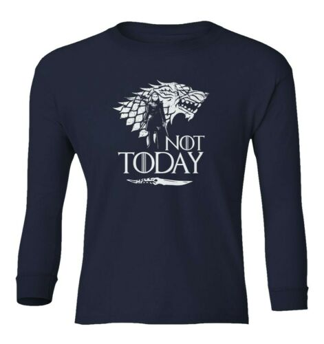 Arya Stark Game Of Thrones Not Today Girl Has No Name  Youth Long Sleeve T-Shirt