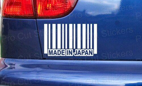 Made in Japan Barcode Drôle Personnalisé Voiture Pare-chocs Fenêtre Stickers Autocollants JDM ref:3