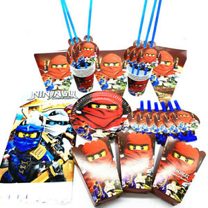 Details About 2019 Ninjago Lego Party Supplies Boy Birthday Tableware Set Birthday Party Decor