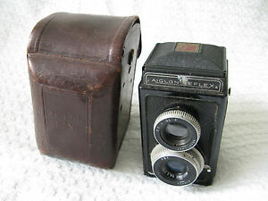 Vintage-French-ATOMS-Aiglon-Reflex-TLR-Camera-amp-Case