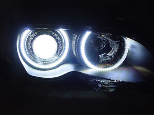 DEPO-LED-Angel-Halo-D2S-Xenon-HID-Projector-Headlight-For-99-01-BMW-E46-4D-5D