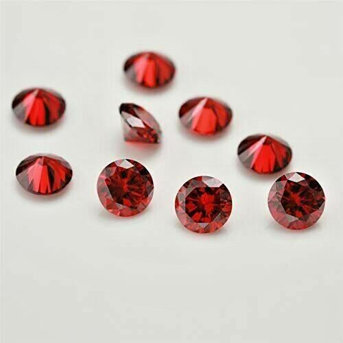 Details about  / Natural Red Mozambique Garnet certified 1.5 mm Cut Round Loose gemstone 20 pc