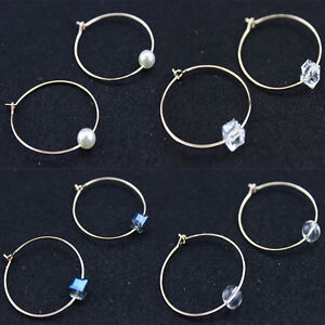Image Is Loading New Pair Of Gold Plated Hoop Earrings Geometric