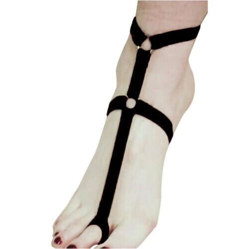 Women Foot Decoration Multi Colors Polyester Foot Bandage Belt Foot Garter MC