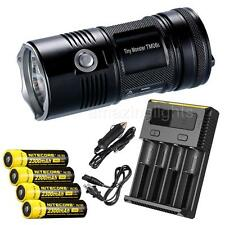 NiteCore TM06S 4000 lumens Flashlight w/ 4x 2300mAh 18650 batteries & i4 Charger