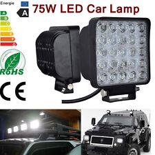 75W LED 25LEDs Work Light Bar Flood Lights For Offroad Truck SUV IP67 12-24V