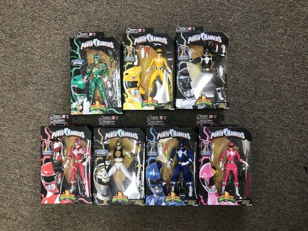 Mighty Morphin Power Rangers Legacy Collection Complete Set 7 Rangers MISB