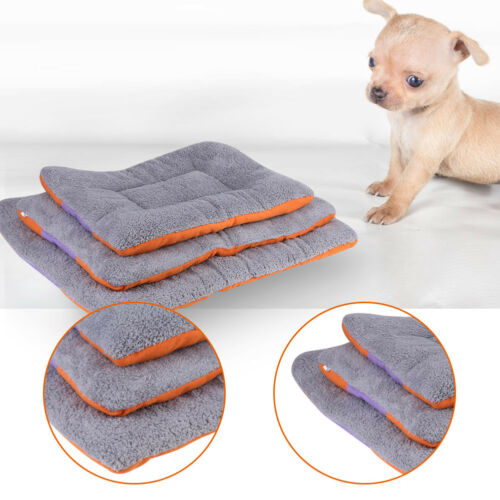 Pet Crate Mat Small Large Cat Dog Puppy Soft Blanket Bed Cushion Kennel Cage Pad