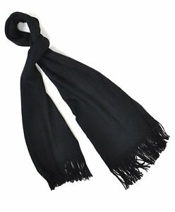 Solid-Color-100-Acrylic-Unisex-Scarf-with-Tassels-AS1000