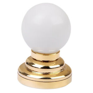 1-12-Dolls-House-Miniature-Globe-White-Ceiling-LED-Light-Lighting-Lamp-with-Y5P3