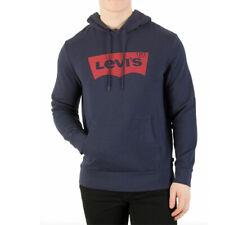 New With Tags Mens Levis Jeans Fleece Logo Athletic Hoodie Hooded Sweatshirt