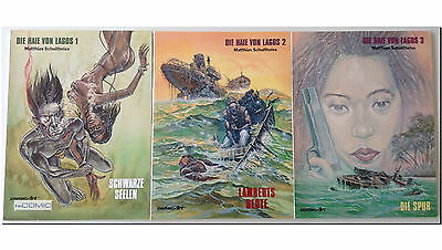 Die Haie von Lagos 1,2,3 Matthias Schultheiss CARLSEN COMIC KRIMINAL hard boiled