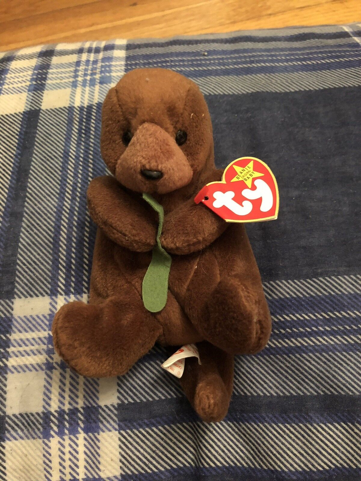Seaweed TY Beanie Baby With Errors