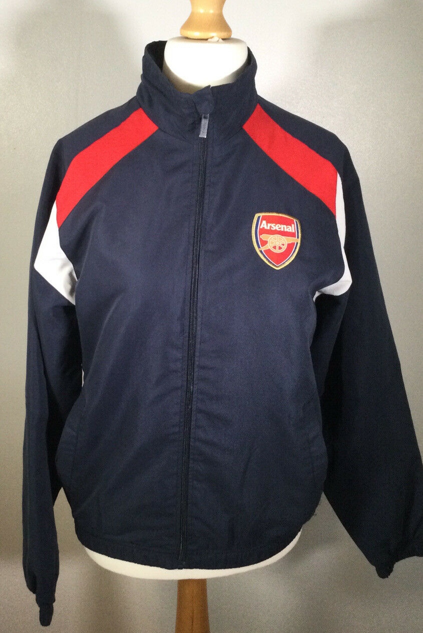 Arsenal Zip Up training Jacket Top - Size Small - VGC