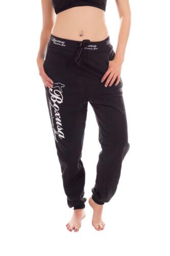 Jeans Donna in Pile Jogging Pantaloni AMERICAN COLLEGE STYLE CON SCRITTA S-XXL Un/'