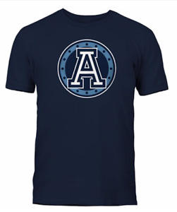Men-039-s-Toronto-Argonauts-Navy-Primary-Logo-CFL-Football-100-Cotton-T-Shirt