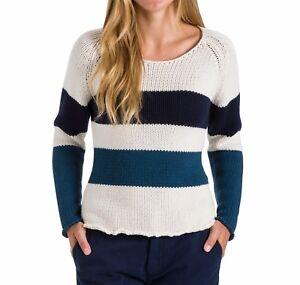 Maglione-da-donna-bianco-e-blu-North-Sails-girocollo-cotone-lana-casual-moda