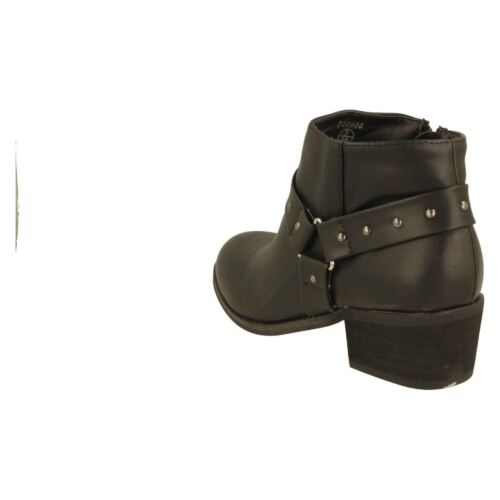 Details about  /Ladies Spot On Ankle Boots Style stud detail F5R0688