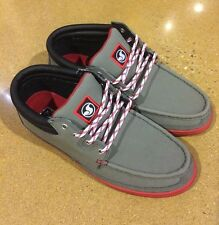 DVS Hunt Grey Gunny Size 9 SB DC Skate Deck Boat Shoes $78 Box Price