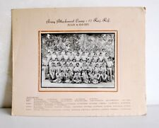 Vintage Old Collective Army Attachment Camp Group Black & White Photograph